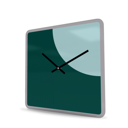 Wall Clock Acrylic Glass Square Moon