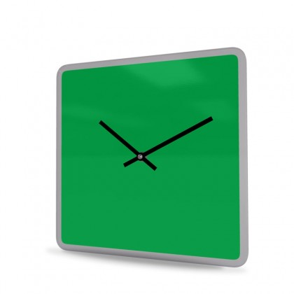 Wall Clock Acrylic Glass Square Unicolor
