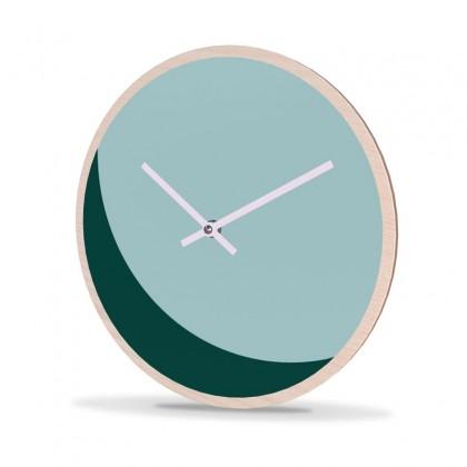 Wall Clock Wood Round Moon