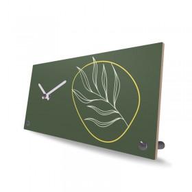 Tischuhr Holz Leaf