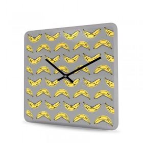 Wanduhr Acrylglas Quadratisch Banana