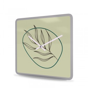Wanduhr Acrylglas Quadratisch Leaf