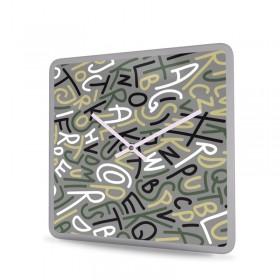 Wanduhr Acrylglas Quadratisch Spoken