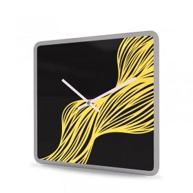 Wanduhr Acrylglas Quadratisch Weave