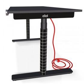 Eliot Schreibtisch Schwarz Pro Checked