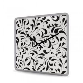 Wanduhr Acrylglas Quadratisch Porcelain