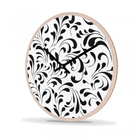 Wanduhr Holz Rund Porcelain