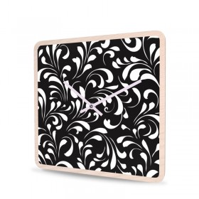Wanduhr Holz Quadratisch Porcelain