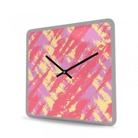 Wall Clock Acrylic Glass Square Grunge