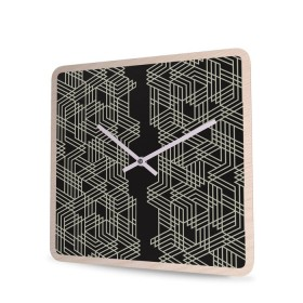 Wall Clock Wood Square Connector