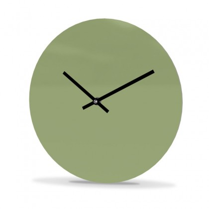 Wall Clock Acrylic Glass Round Unicolor