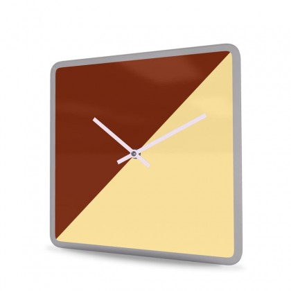 Wall Clock Acrylic Glass Square Cut