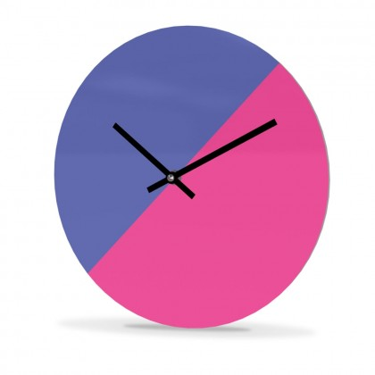 Wall Clock Acrylic Glass Round Cut