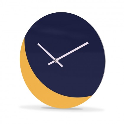 Wall Clock Acrylic Glass Round Moon