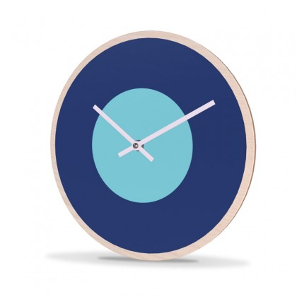 Wall Clock Wood Round Point