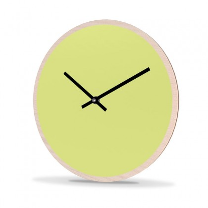 Wall Clock Wood Round Unicolor